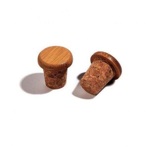 PDW Bamboo Cork Bar End Plugs